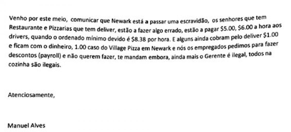 Carta do leitor Manuel Alves