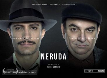 """Movie Review: A satirical hunt for the world's most controversial poet in the biopic """"Neruda"""""""