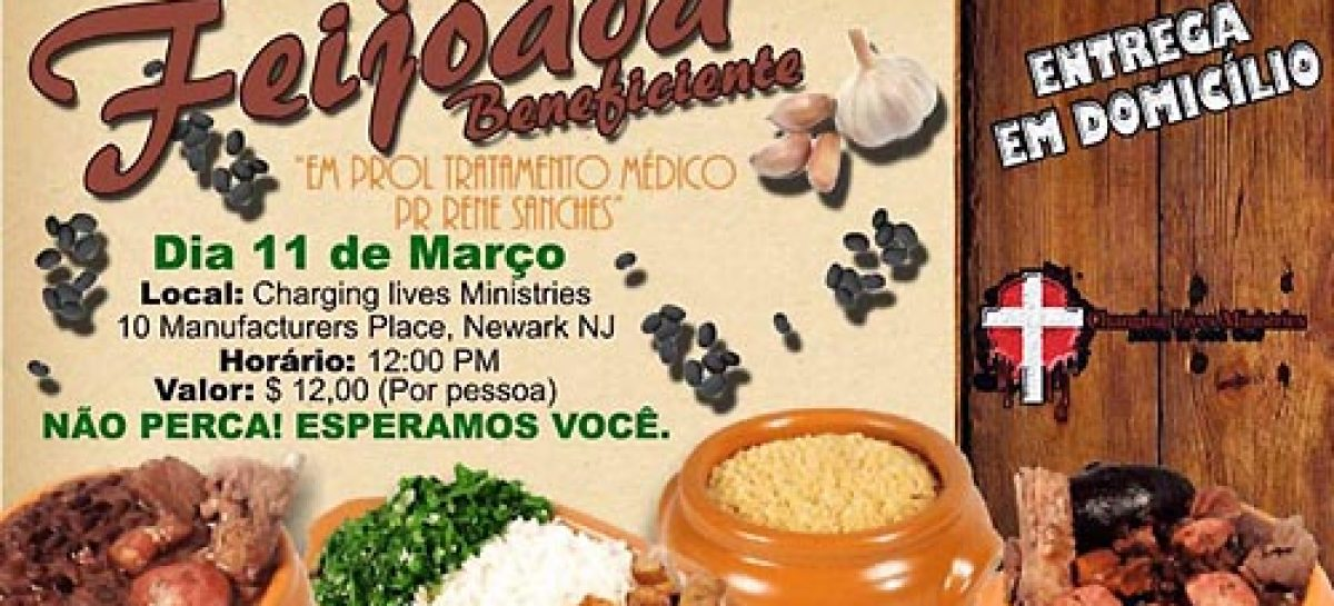Feijoada beneficiente em proll do Pr. Rene Sanches é neste sábado. Participe!