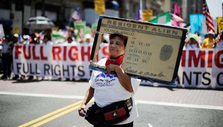imigrante protesto