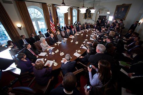 parlamentares na Casa Branca